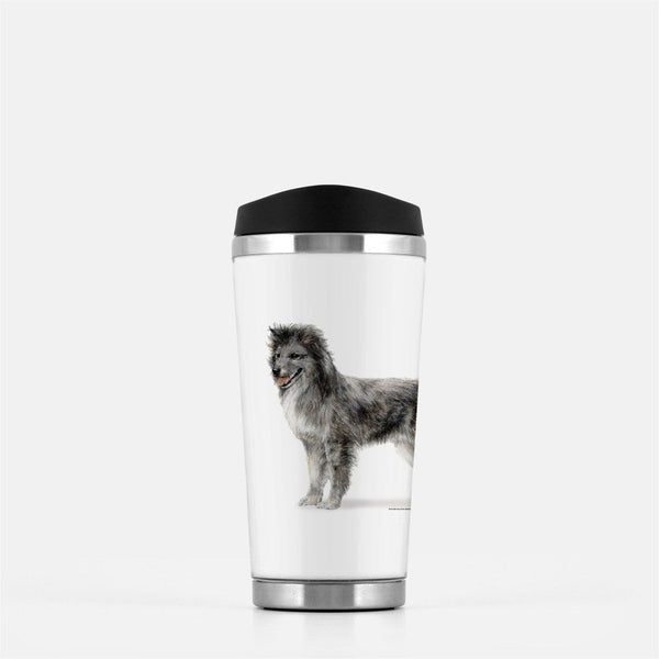 Smooth Face Pyrenean Shepherd Travel Mug