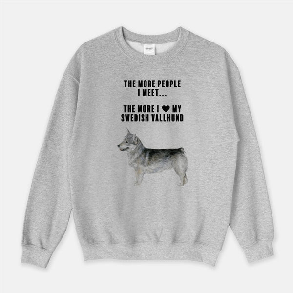 Swedish Vallhund Love Unisex Crew Neck Sweatshirt
