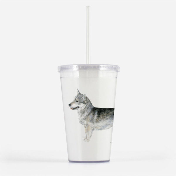 Swedish Vallhund Beverage Tumbler