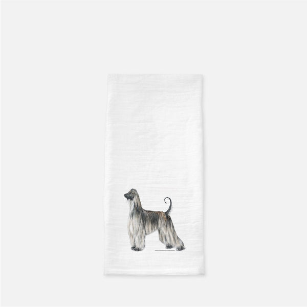Afghan Hound Tea Towel
