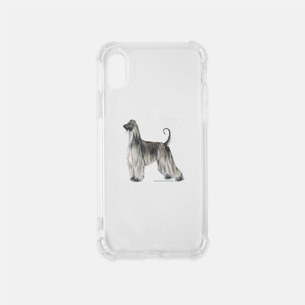Afghan Hound Clear Phone Case
