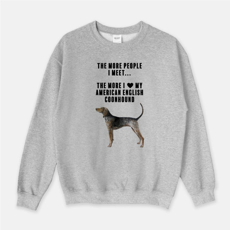 American English Coonhound Love Unisex Crew Neck Sweatshirt