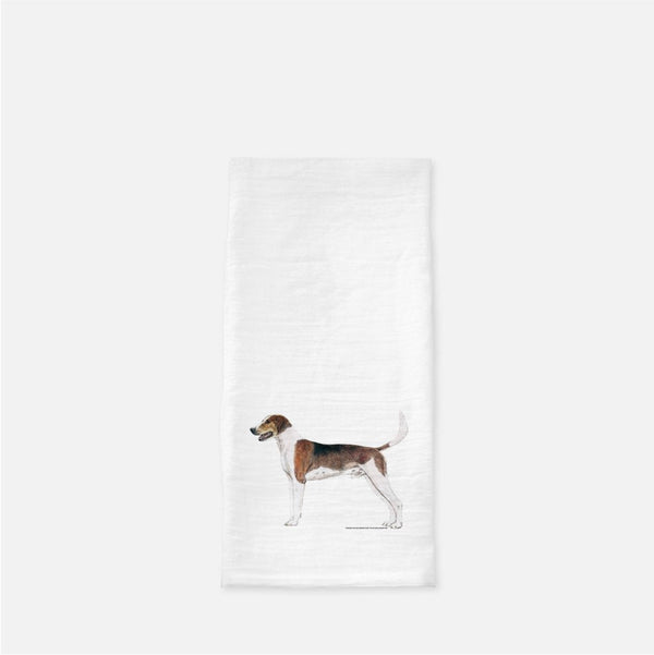 American Foxhound Tea Towel