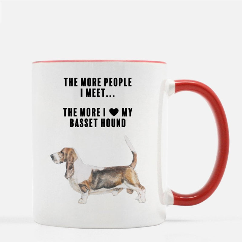 Basset Hound Love Coffee Mug