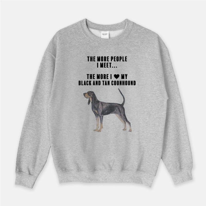 Black and Tan Coonhound Love Unisex Crew Neck Sweatshirt
