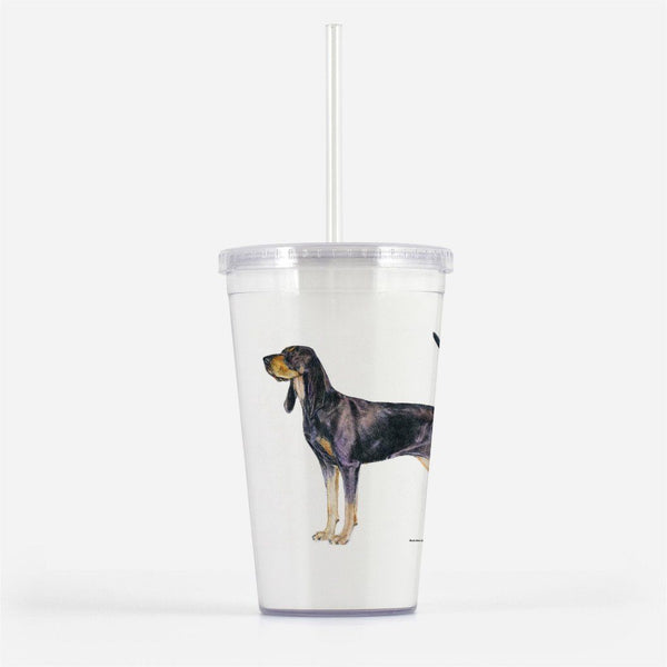 Black and Tan Coonhound Beverage Tumbler