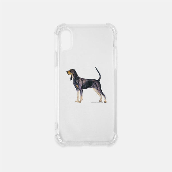 Black and Tan Coonhound Clear Phone Case