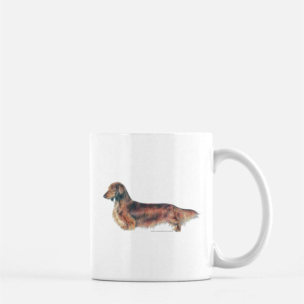 Longhaired Dachshund Coffee Mug