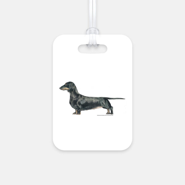 Canine Designs Set of 2 Dachshund Smooth Luggage Tags