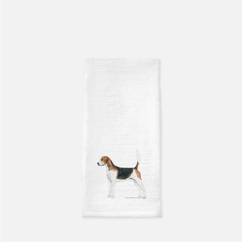 English Foxhound Tea Towel