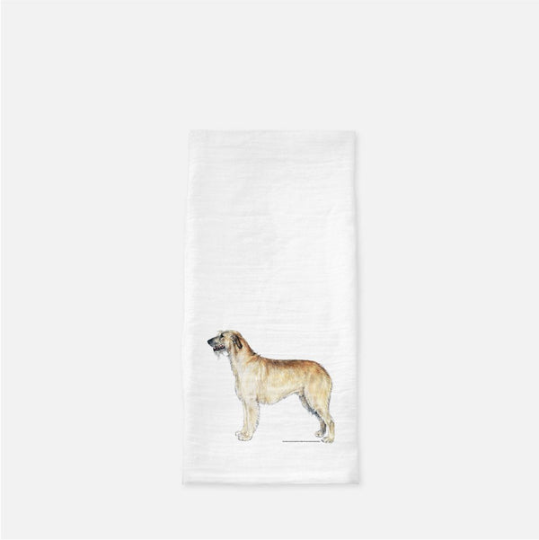 Irish Wolfhound Tea Towel
