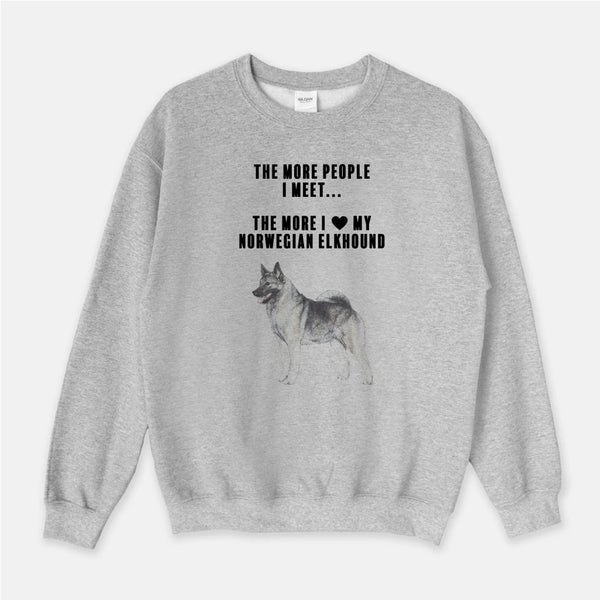 Norwegian Elkhound Love Unisex Crew Neck Sweatshirt