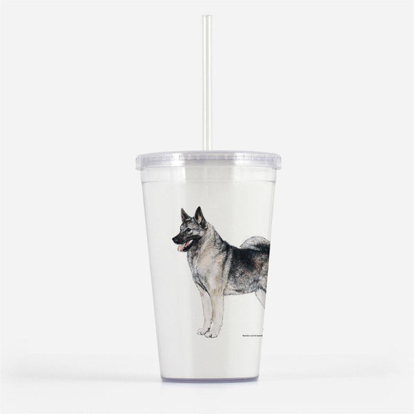 Norwegian Elkhound Beverage Tumbler