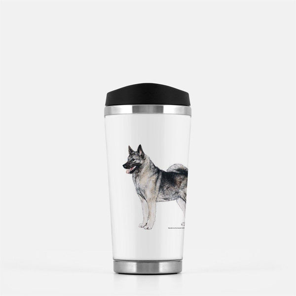 Norwegian Elkhound Travel Mug