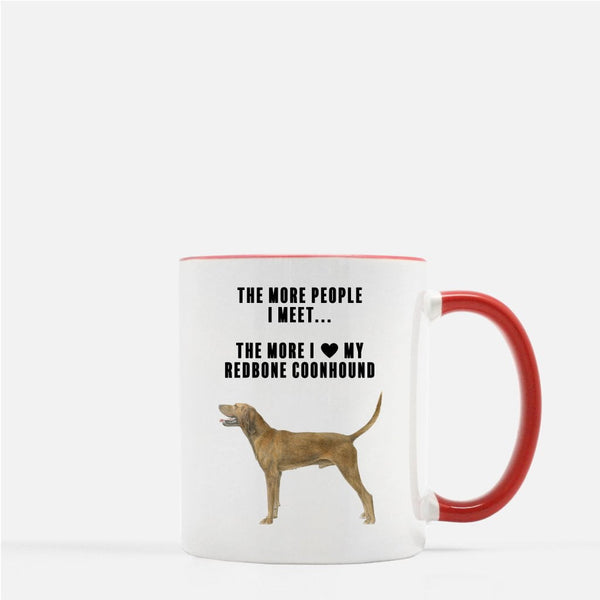 Redbone Coonhound Love Coffee Mug