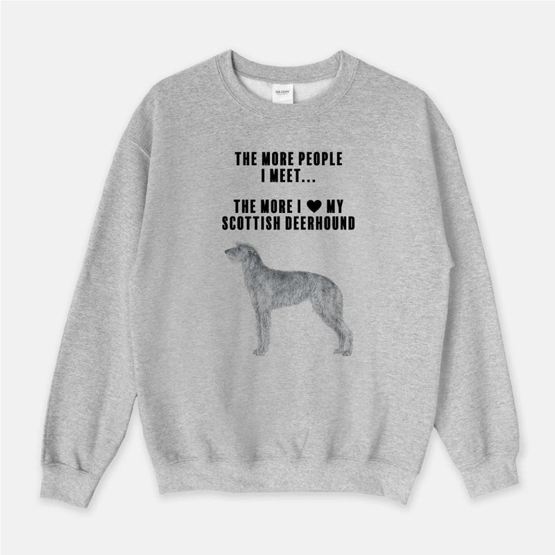 Scottish Deerhound Love Unisex Crew Neck Sweatshirt