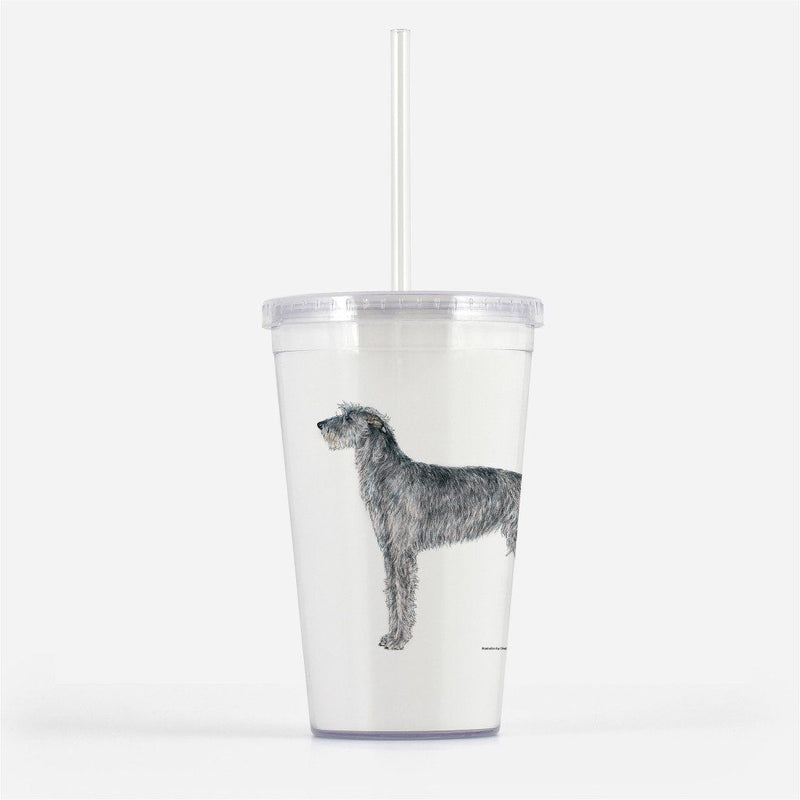Scottish Deerhound Beverage Tumbler
