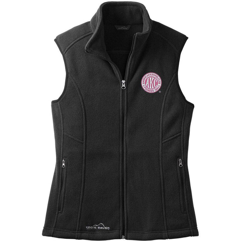 AKC Breast Cancer Awareness Embroidered Eddie Bauer Ladies Fleece Vest