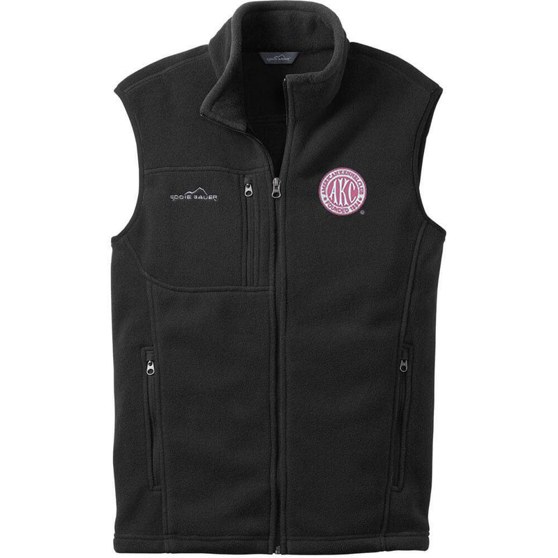 AKC Breast Cancer Awareness Embroidered Eddie Bauer Mens Fleece Vest