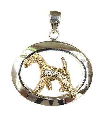 Airedale Terrier Sterling & 14k Gold Jewelry
