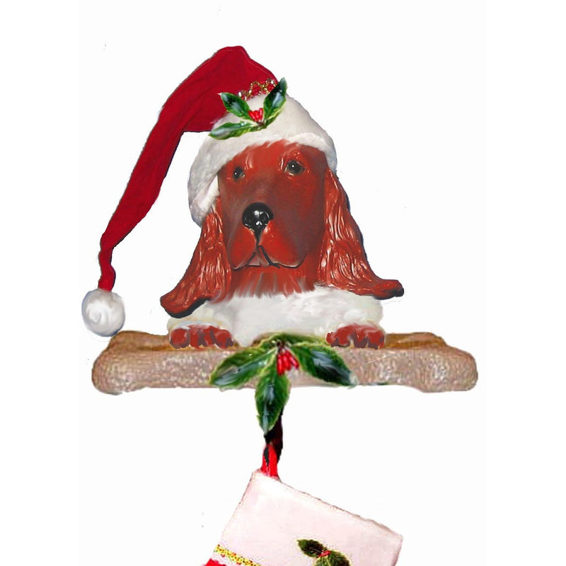 Irish Setter Santa Stocking Holder
