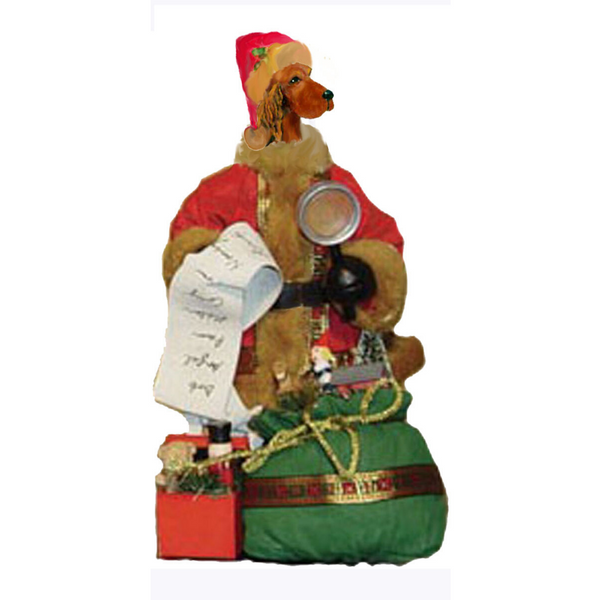 Irish Setter Toy List Santa Statue