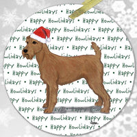 "Irish Terrier ""Happy Howlidays"" Ornament"