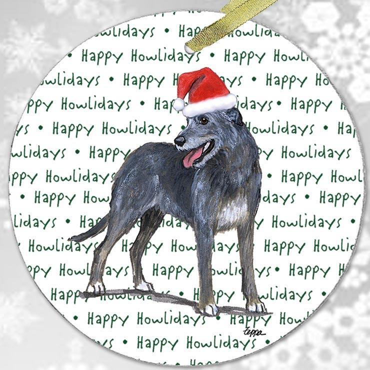 "Irish Wolfhound ""Happy Howlidays"" Ornament"