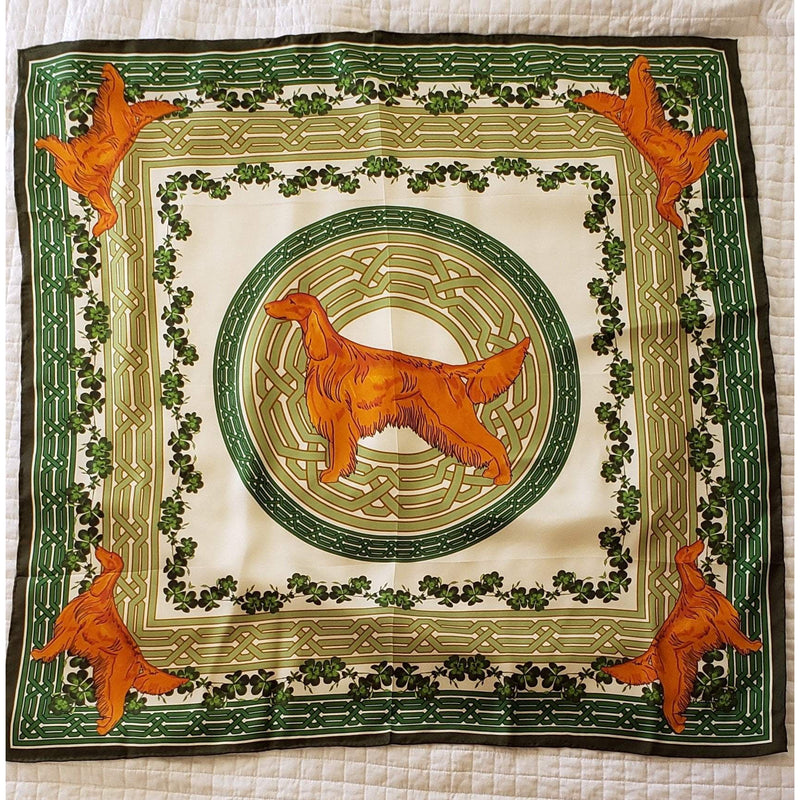 Irish Setter Square Silk Scarf