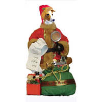 Italian Greyhound Toy List Santa Statue