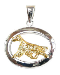 Irish Setter Sterling & 14k Gold Jewelry