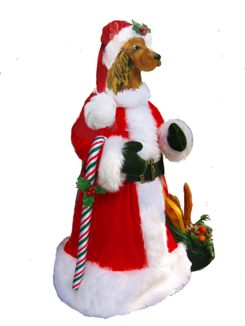 Irish Setter Large Santa Statue