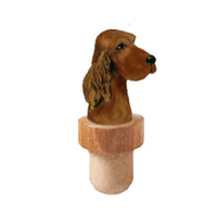 Irish Setter Head Cork Bottle Stopper