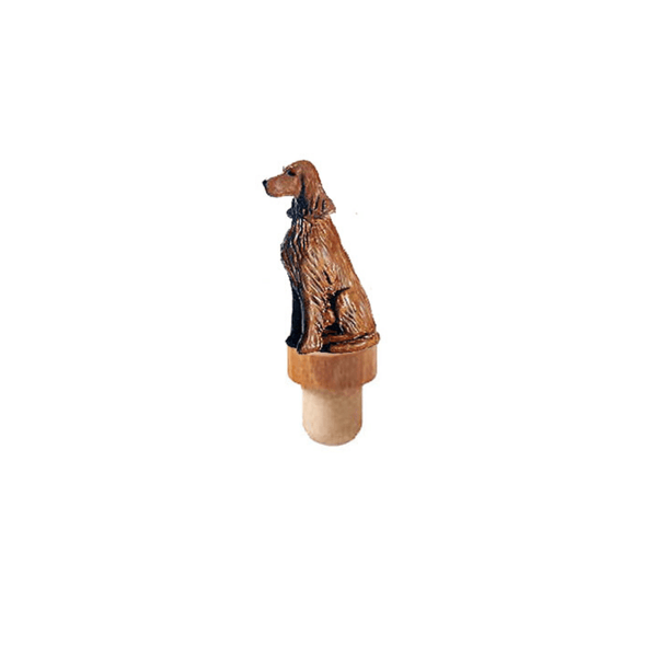 Irish Setter Figurine Cork Bottle Stopper