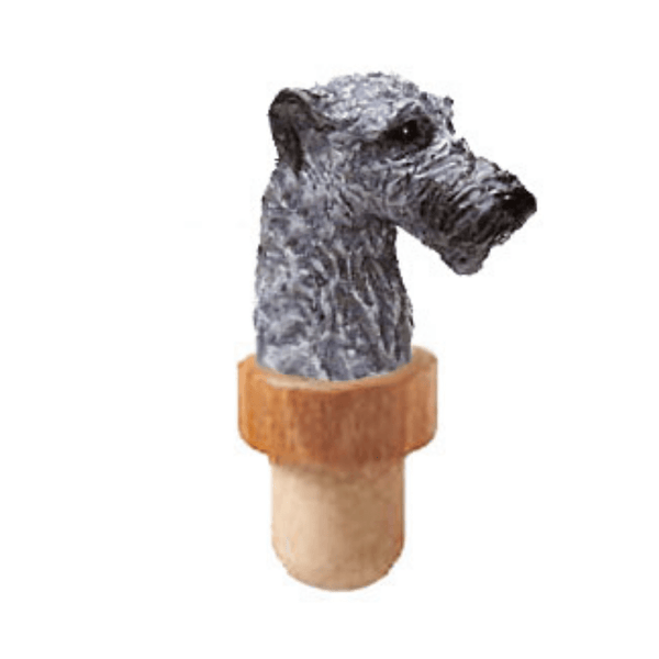 Irish Wolfhound Head Cork Bottle Stopper