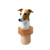 Italian Greyhound Head Cork Bottle Stopper