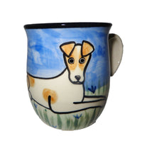 Russell Terrier Hand-Painted Ceramic Mug