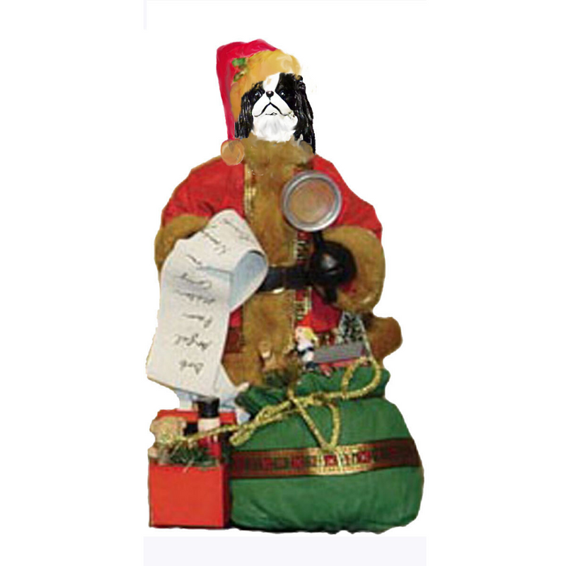 Japanese Chin Toy List Santa Statue