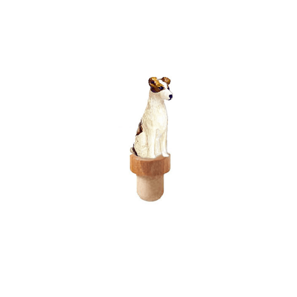 Russell Terrier Figurine Cork Bottle Stopper
