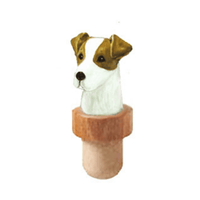 Russell Terrier Head Cork Bottle Stopper