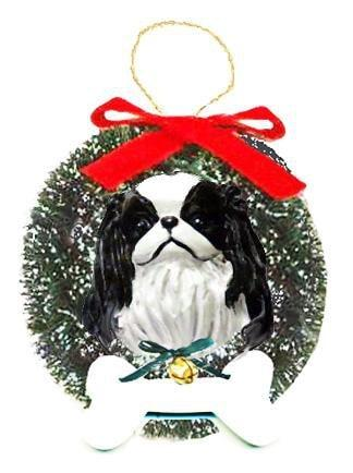Japanese Chin Wreath and Bone Ornament