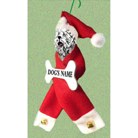 Komondor Santa Bone Ornament