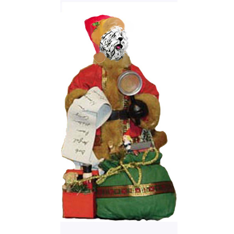 Komondor Toy List Santa Statue