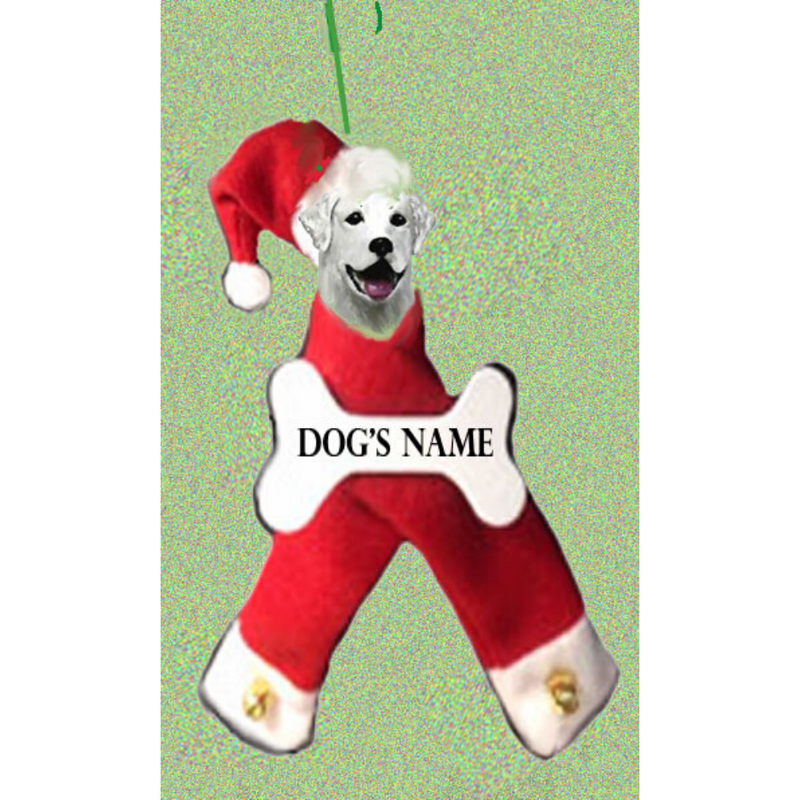 Kuvasz Santa Bone Ornament