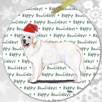 "Kuvasz ""Happy Howlidays"" Ornament"