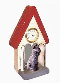 Kerry Blue Terrier Figurine Clock