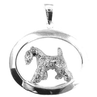 Kerry Blue Terrier Oval Jewelry