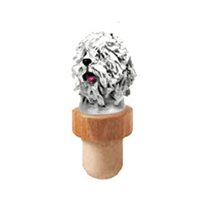 Komondor Head Cork Bottle Stopper