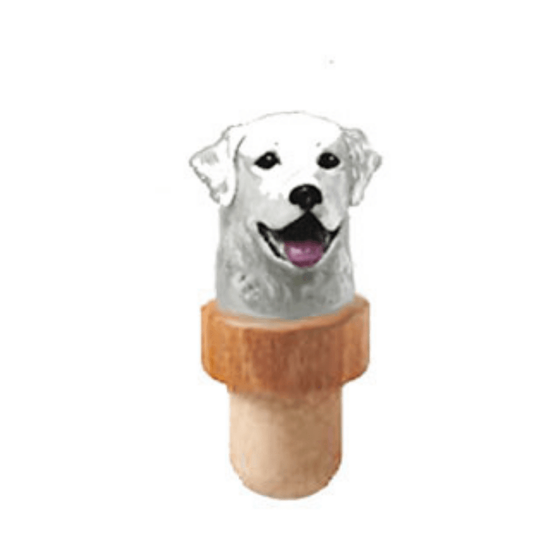 Kuvasz Head Cork Bottle Stopper