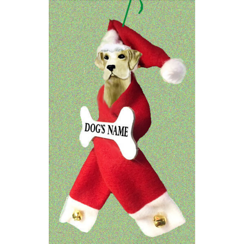 Labrador Retriever Santa Bone Ornament